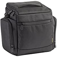 RivaCase 7230 Polyester Professional Full Size Shoulder Bag with Tablet Compartment for Digital SLR Camera and 1-2 Lenses in Black