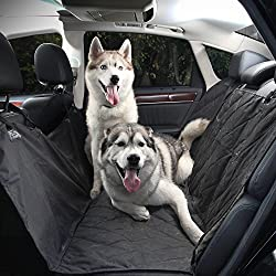 PetGoodsPro Car Dog Seat Cover – Non-Slip Waterproof Cover for All Types of Vehicles with Seat Anchors and Side Flaps – Protection from Fur and Dirt – Machine Washable