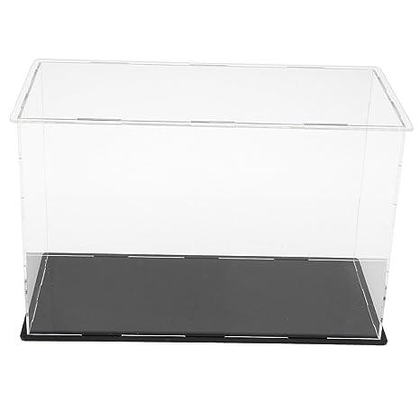 IPOTCH Vítrina de Acrílica Caja de Exposición Trasparente Anti-Polvo Estuche de Muestra para Colecciones de Figura en Miniatura Coches - 26x12x17cm