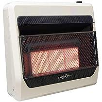 Lost River LR3TIR-LP Gas Heater, Medium, White