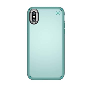 Speck Presidio Metallic, Carcasa para Apple iPhone X, color Verde (Peppermint Green Metallic/Jewel Teal)