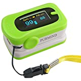 PUBMIND Pulse Oximeter Fingertip Oxygen Finger Monitor Blood Spo2 Saturation Levels Meter with Alarm and Plethysmograph