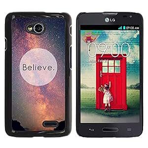 Paccase / SLIM PC / Aliminium Casa Carcasa Funda Case Cover para - Believe Universe Milky Way Cosmos Inspiring - LG Optimus L70 / LS620 / D325 / MS323