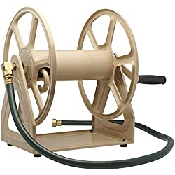 Liberty Garden Products 709 Steel Hose Reel Wall/Floor Mounted, 17.6 x 22 x 15, Tan