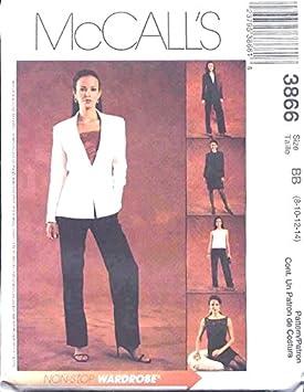McCalls 3866 - Patrones de costura para falda de pantalón de ...