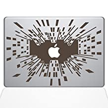 Looking Up in the Big City Removable Vinyl Decal Sticker Skin for Apple Macbook Pro 15 inch (Pre-2016 model) Laptop in Brown