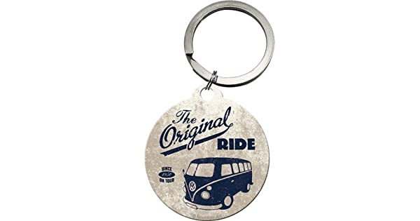 Amazon.com: VW Camper Original Ride redonda de metal llavero ...