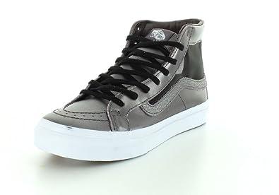 c8bb18e781 Vans Unisex Mesh Metallic SK8-Hi Slim Cutout Thistle Purple True White  Sneaker -