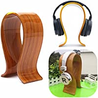 BephaMart Gorgeous Wooden U Grain Headphone Earphone Headset Holder Hanger Stand