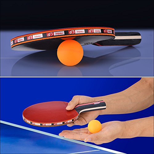 Dioche Boliprince Ping Pong Paddles, 2-Player Table Tennis Racket Set with Carrying Bag and 3 Balls for Shake-Hand Grip Players by Dioche (Image #6)