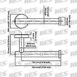 KES Toilet Paper Holder SUS304 Stainless Steel Wall