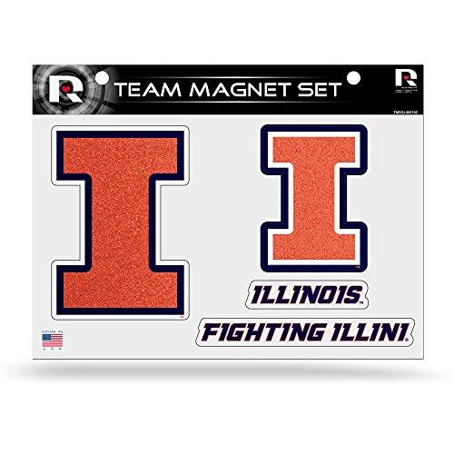 NCAA Illinois Fighting Illini Bling Team Magnet Set