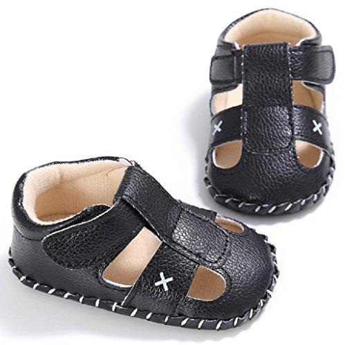 Suave Patrón Meses Único 6 Bebé Cuna 12 Para Nacidos Auxma Zapatos Negro Bebés 3 12 18 Los Muchachos 6 Prewalker Sandalias Recién wfzwq8