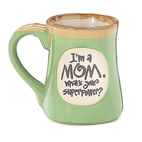 1 X I'm a Mom Superpower Lime Green 18 Oz Mug Lime Green Mug