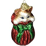 Old World Christmas Letting The Cat Out Of Bag Glass Blown Ornament