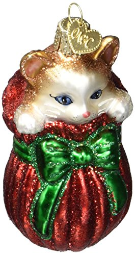 Old World Christmas Ornaments: Letting The Cat Out Of The Bag Glass Blown Ornaments for Christmas -