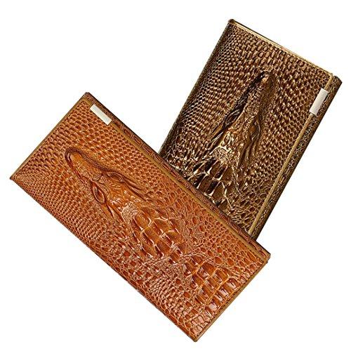 Bag Embossed Shoe Leather (Naovio Women Wallet Elegant Clutch Alligator Embossed Long Purse Leather Credit Card Holder,Gold)