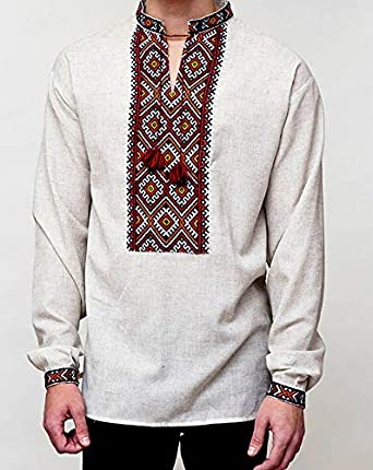 Ukrainian shirt Embroidered shirt Vyshyvanka for men Folk shirt Ukrainian clothing Linen shirt Cotton shirt White shirt
