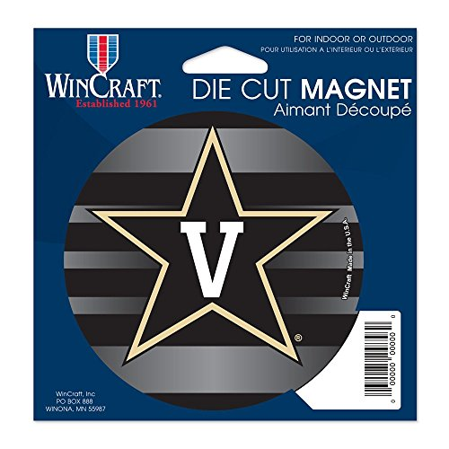 VANDERBILT COMMODORES OFFICIAL LOGO 4X6 DIE CUT MAGNET by NCAA