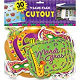 Mardi Gras Value Pack Cutout Assortment