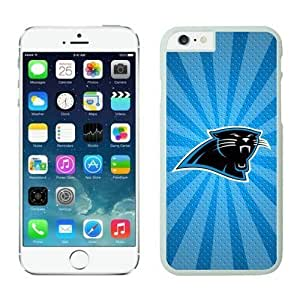 NFL iPhone 6 Plus 5.5 Inches Case Carolina Panthers iPhone Cases White iPhone 6 Plus Cell Phone Case ONXTWKHB0660