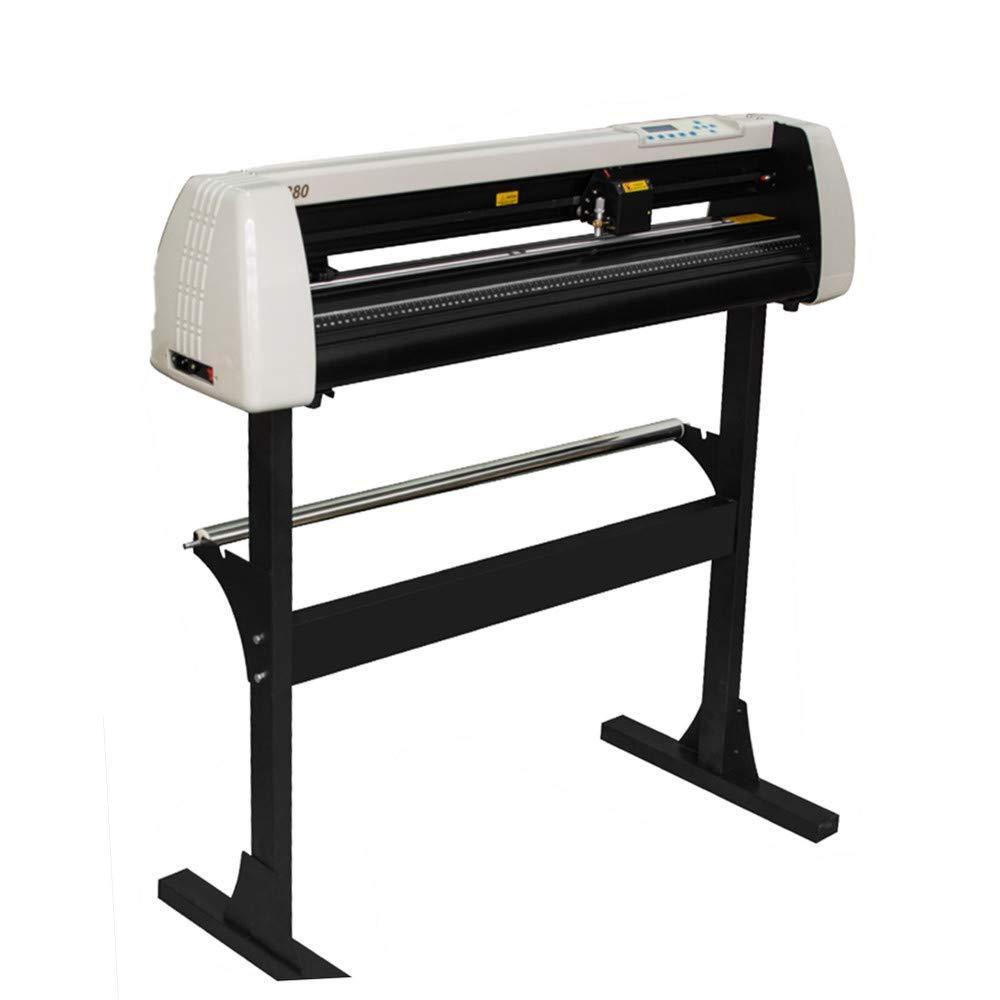 zorvo Professional Vinyl Cutter Plotter Machine 33 Inch 850mm Vinyl Cutter Plotter LCD Display Vinyl Plotter Cutter Machine Signmaster Software Sign Making Machine with Stand