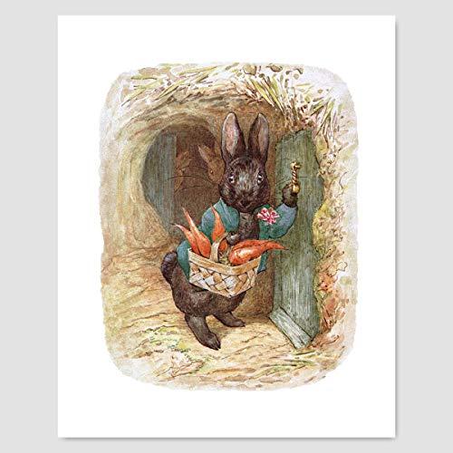 Peter Rabbit Print (Beatrix Potter Decor, Baby Nursery Wall Art)
