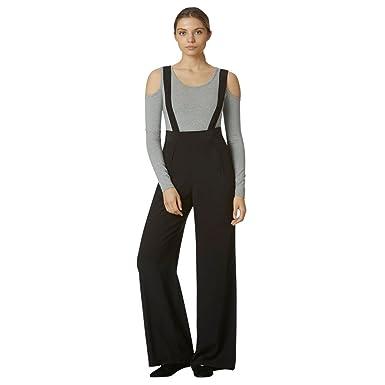 020f9370a53e Avec Les Filles by Joyce Azria Suspender Wide Leg Pant (Black) Size 0