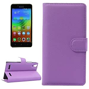 Horizontal Flip Solid color Leather Case with Card Slots & Holder & Wallet for Lenovo K3 (Purple)