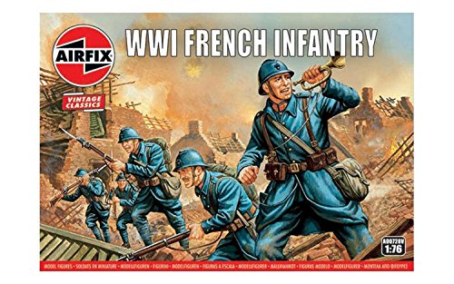 Airfix A00728V 1:76 WWI Soldier Figures 1:72nd Scale Military Figurine, (Pack of 48)