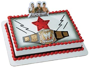 Decopac Wwe Championship Buckle Cake Topper Amazonca Home Kitchen