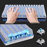 LexonElec Wired Gaming Keyboard Ajazz AK33 Blue LED Backlit 82 Keys USB Mechanical Pro Gamer Keypad for Office Typists Playing Games