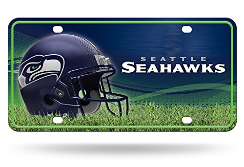 Seattle Seahawks Nfl Metal (Rico NFL Seattle Seahawks Auto Metal Tag Car License Plate MTG)