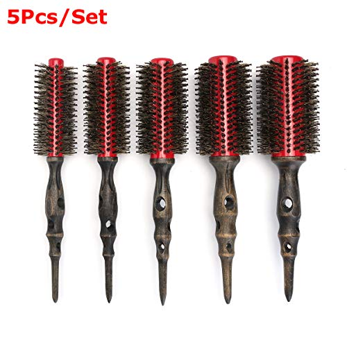 Health & Beauty - Hair Styling Tools - Magic Round Hair Comb Brush Wooden Handle Salon Barber Hairdressing Styling Tool - (NO.: 6) from Isali Health & Beauty