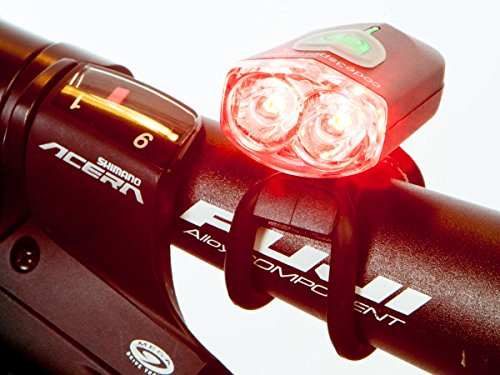 Police or EMS Bike Light Red / Red Wig-Wag Flash - Mini Pursuit Daylight Visible also use as Taillight by C3Sports