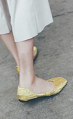 Décontractées Peu Chaussures Carré Paresseuses Jaune 36 Sauvage Doux Ballet Sauvage Chaussures DIDIDD Profonde Bouche axqw65pZ4U