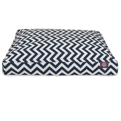 Navy Blue Chevron Extra Large Rectangle Indoor Outdoor Pet D