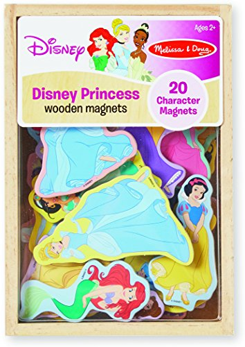 Melissa & Doug Disney Princess Wooden Magnets - 20 Character (Disney Magnets)