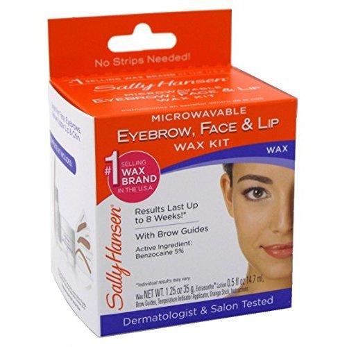 Sally Hansen Microwaveable Eyebrow, Face & Lip Wax Kit (Pack of 5)