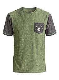Quiksilver Men\'s Badge Pocket T-Shirt Rashguard, Four Leaf Clover, Medium