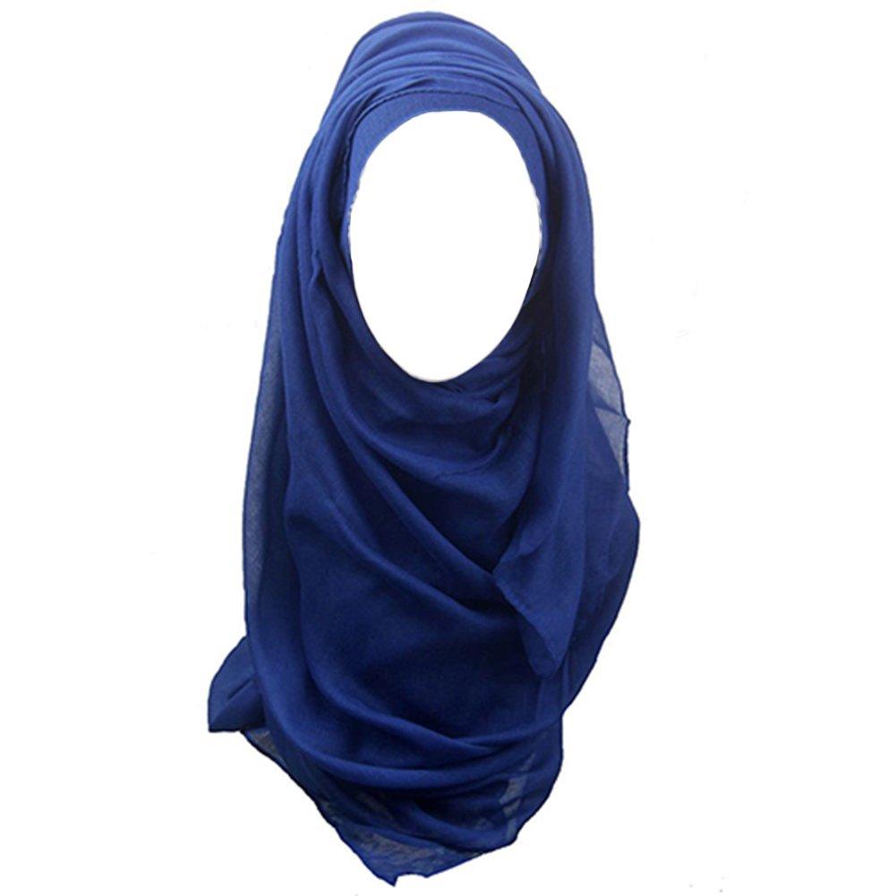 Bluelans/® Mode Islamisch Kopftuch Turban Band Hals Brust Bedecken Motorhaube Hijab Maxi Schal