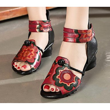 Sandalias Negro Womens Verano Zapatos FSCHOOLY Comodidad Negro Talón Casual Gris Chunky Primavera 1qR4X