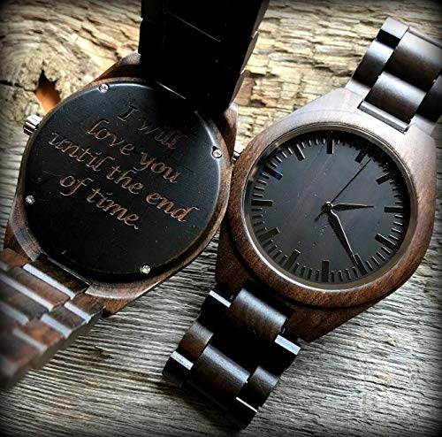Custom Designer All Wooden Mens Luxury All Wood Mens Laser Engraved Watch