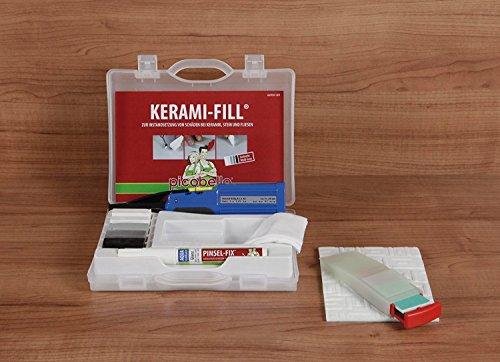 Picobello Ceramic Tile Repair Kit (White/Grey) by Konig (Assortment Tile)