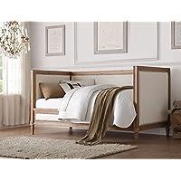 ACME Furniture 39175 Charlton Daybed, Twin, Cream Linen & Salvage Oak