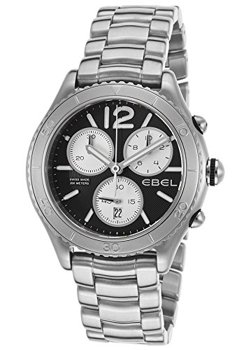 Ebel-1216120-Mens-X-1-Chronograph-Stainless-Steel-Black-Dial-Watch