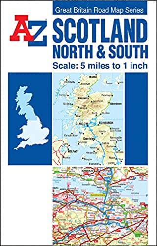 Amazon.it: Scotland A Z Road Map (reversible) A–Z maps
