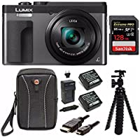 "Panasonic DC-ZS70K Lumix 20.3MP, 4K Touch Enabled 3"" LCD, 180 Degree Flip-Front Display, 30x Lens 128GB Bundle"