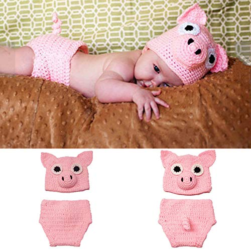Pig Infant Costumes - SUNBABY Newborn Photography Props Baby Knitting