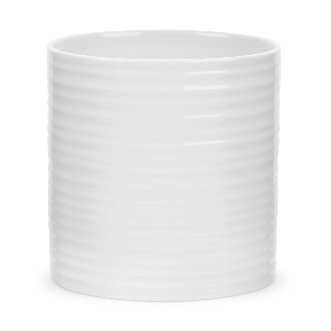 Portmeirion Sophie Conran White Oval Utensil Jar Portmeirion USA 749151570580